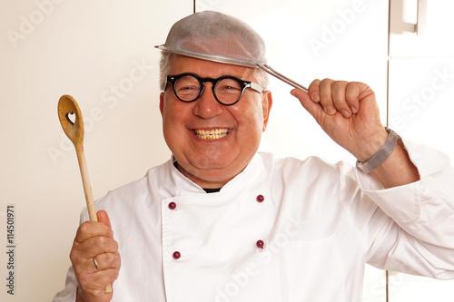 Photo  Ein fröhlicher Koch
