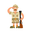Hunter vector illustration on isolated background