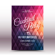 Vector Flyer Design Template Cocktail Party