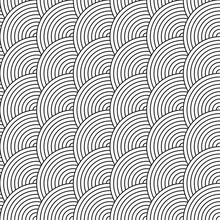 Vector Seamless Pattern Of Circles In Squama Style