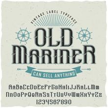 Hand Made Vintage Label Font N...