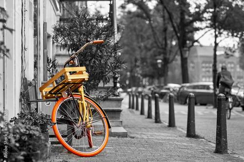 Türaufkleber Fahrrad Amsterdam Vintage Bike Black and White