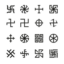 Swastika, Cross And Others Sym...