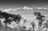 Pasmo górskie Kanchenjunga, himalajskie góry w tle, Sikkim - 114523953