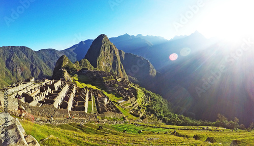 Just Machu Picchu in the sun
