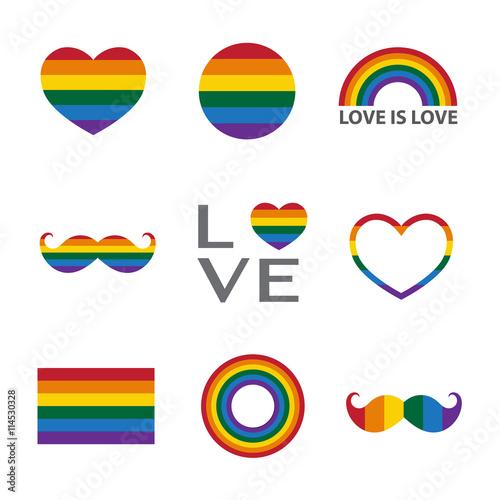 Valokuva  Rainbow icon,LGBT support symbol
