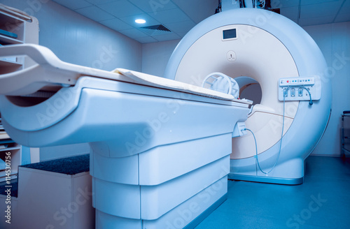 Fotografia  Medical equipment. MRI room in hospital.