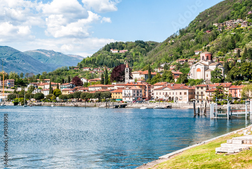 Fototapety, obrazy: Laveno-Mombello is a small town on the shore of Lake Maggiore, Varese, Italy