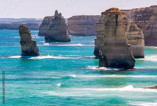 fototapeta na lodówkę The Twelve Apostles, Victoria - Australia. Coastline view on a s