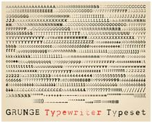 Grunge Typewriter Typeset