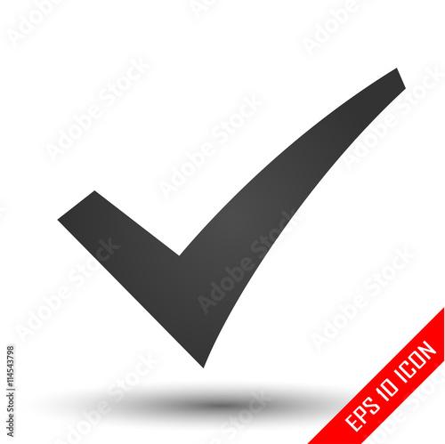 Check Mark Icon Ok Sign Simple Flat Logo Of Checkmark Symbol On