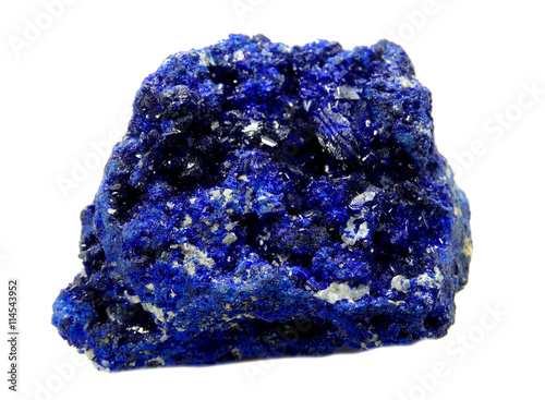 azurite semigem geological mineral crystal Canvas Print
