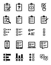 Survey Questionnaire Icon Set