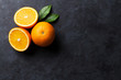 Leinwandbild Motiv Fresh ripe oranges