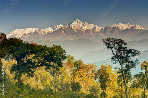Foto op Plexiglas Zuid Afrika Kanchenjunga mountain range , Himalayan mountain in backdrop, Sikkim