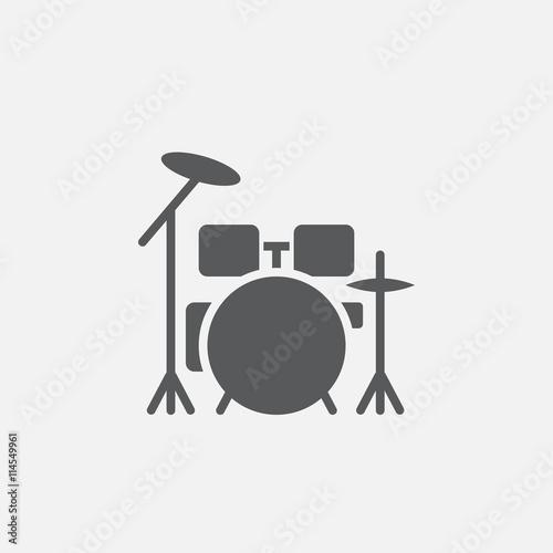 Obraz na plátne drum kit icon, vector illustration