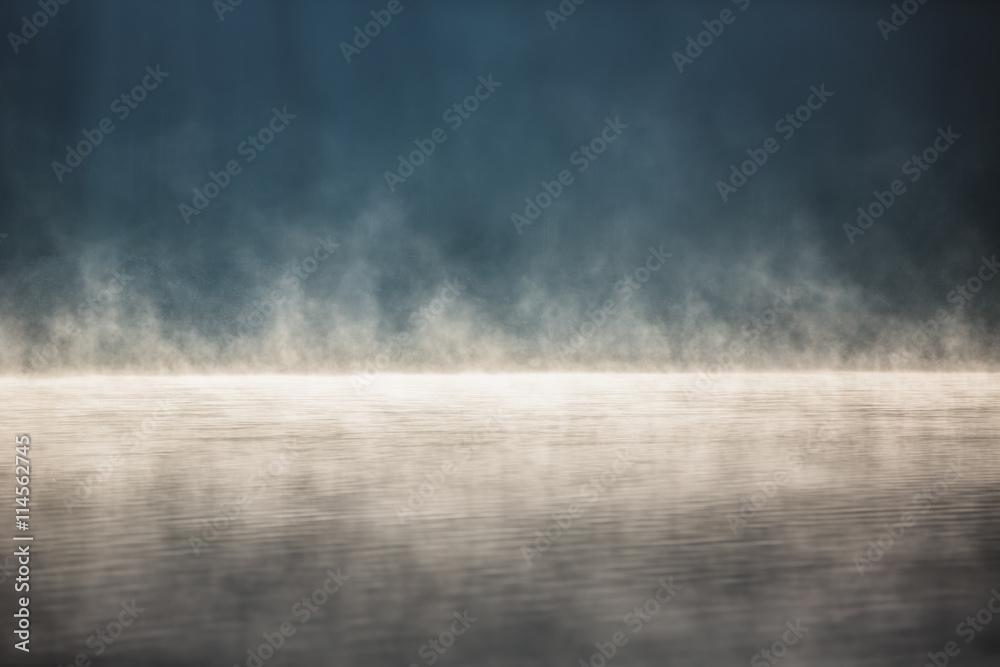 Fototapeta Morning fog on the lake