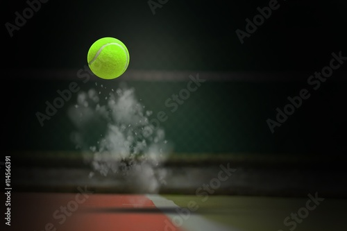 Fotografie, Obraz  Composite image of tennis ball with a syringe