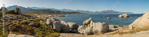 Poster Moyen-Orient Pnoramic view of Calvi bay from Punta Spanu in Corsica
