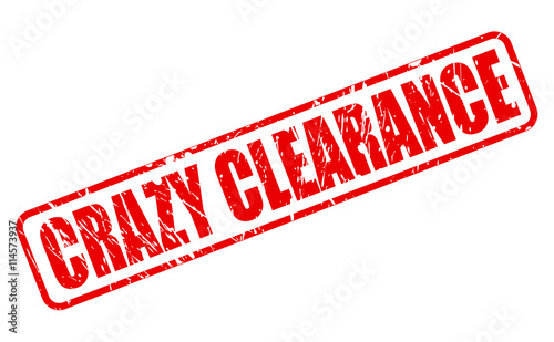CRAZY CLEARANCE RED STAMP TEXT Wallpaper Mural