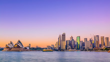 Sydney City Skyline At Sunrise...