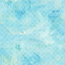 Seamless Teal Blue And White Q...