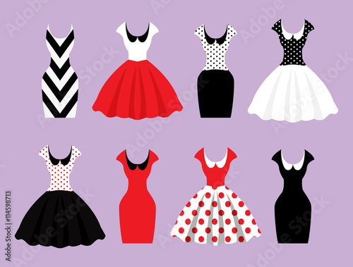 Woman wardrobe accessories set Poster