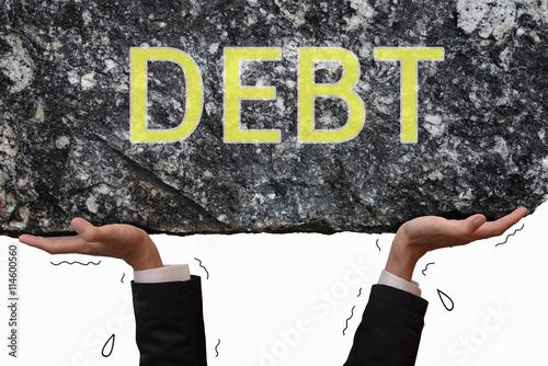 Staande foto Dragen Carry very heavy on debt