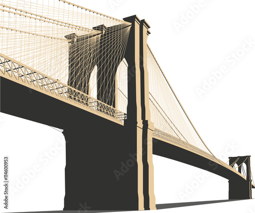 Brooklyn Bridge Vector Canvas Print