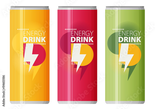 Fototapeta Energy drink design over white background, vector illustration. obraz