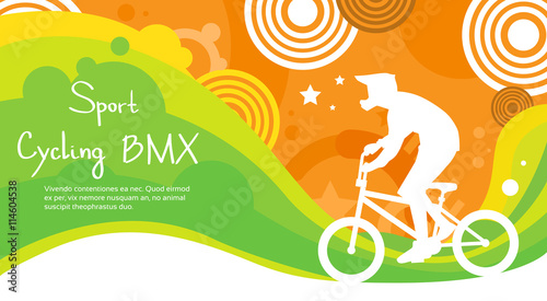 Foto BMX Cycling Athlete Sport Competition Colorful Banner