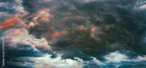 Stampa su Tela Panorama of a stormy sky