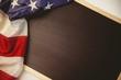 American flag on chalkboard