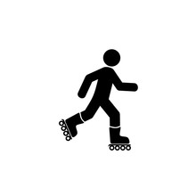 Roller Skating Man Icon