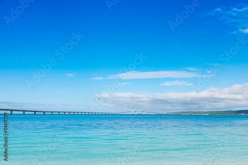 Canvas Prints Ocean 沖縄県 宮古島 トゥリバー海浜公園から見る伊良部大橋