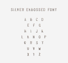 Silver Embossed Alphabet Isola...