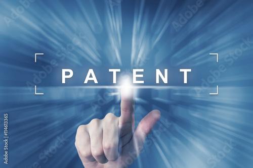 Obraz na plátně hand clicking on patent button