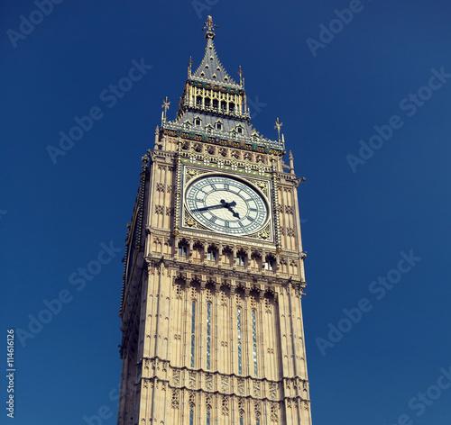 Fotografia  Big Ben wielki wieża zegarowa w Londynie