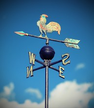 Weathervane With Rooster Abov...