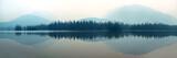 Fototapeta Nature - Foggy mountain lake