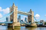 Fototapeta Londyn - Sunny day at Tower Bridge in London, United Kingdom