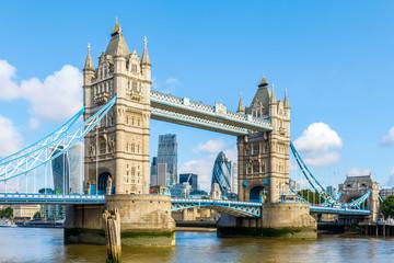 Sunny day at Tower Bridge in London, United Kingdom