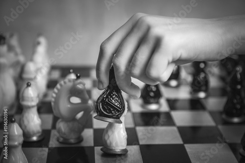 Photo Playing chess