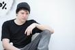 sad depressed lonely teen boy
