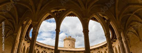 Fotografie, Obraz  Colonnade of Bellver castle, Palma, Majorca.