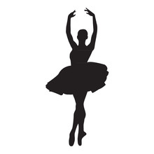 Ballerina Silhouette On A Whit...