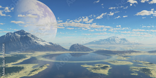 Staande foto Bleke violet paisaje extraterrestre
