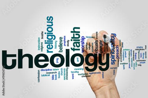 Fotografie, Obraz  Theology word cloud