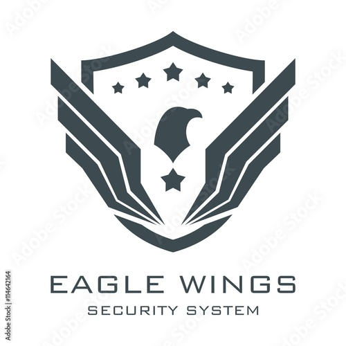 eagle logo security logo eagle wings logo security system eagle wings logo sheild logo vector buy this stock vector and explore similar vectors at adobe stock adobe stock eagle logo security logo eagle wings