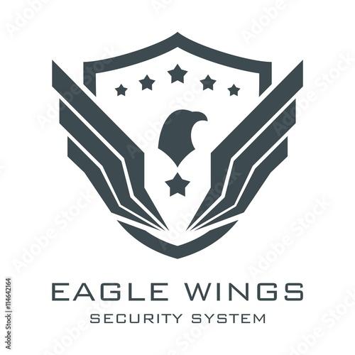 eagle logo security logo eagle wings logo security system eagle wings logo sheild logo vector buy this stock vector and explore similar vectors at adobe stock adobe stock eagle logo security logo eagle wings